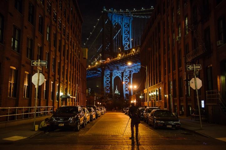 Manhattan-Bridge-Blue-Night